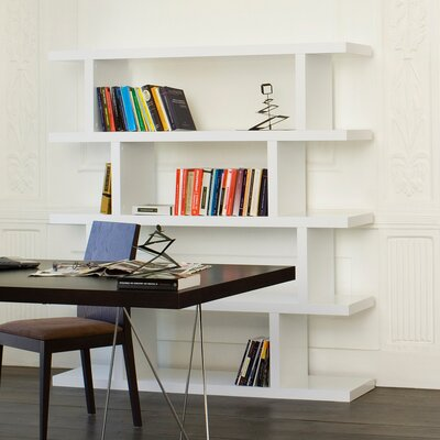 Step High Shelving Unit 68'' Bookcase Finish: Pure White Product Picture 247