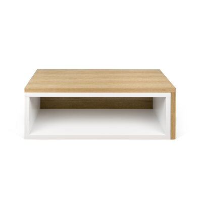 Jazz Coffee Table Top Finish: Pure White / Oak