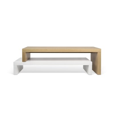 Cliff 49 TV Stand Color: Pure White / Oak