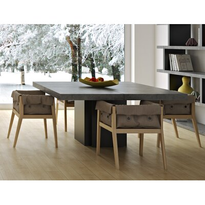 Dusk Dining Table Size: 30 inch H x 51 inch W x 51 inch D, Finish: Concrete/Pure Black