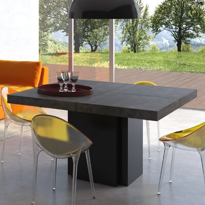 Dusk Dining Table Size: 30 H x 51 W x 51 D, Finish: Pure Black