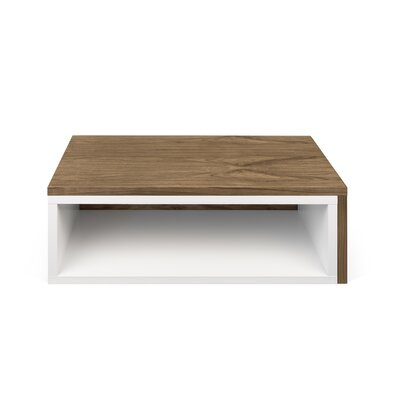 Jazz Coffee Table Top Finish: Pure White / Walnut