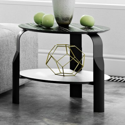 Scale End Table Color: Ebony / Ivory / Black