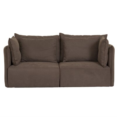 Dune Modular Loveseat Upholstery: Brown