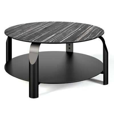 Scale Coffee Table Color: Ebony / Ivory / Black