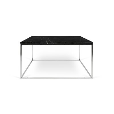Gleam Coffee Table Top Finish: Black Marble, Base Finish: Chrome