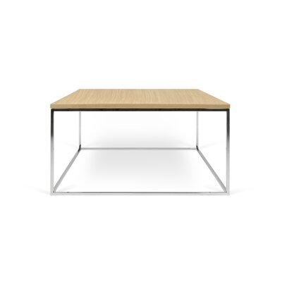 Soltane Coffee Table Base Color: Chrome, Top Color: Wild Oak