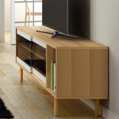 Garry 65 TV Stand Color: Oak Frame/ Glass Doors/ Oak Feet