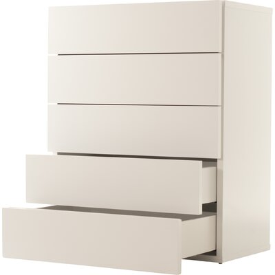 5 Drawer Chest Color: High Gloss White