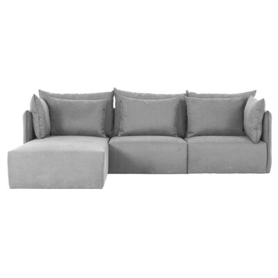 Dune Sectional Orientation: Left Hand Facing, Upholstery: Gray