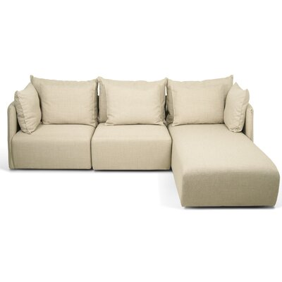 Dune Sectional Upholstery: Beige, Orientation: Right Hand Facing