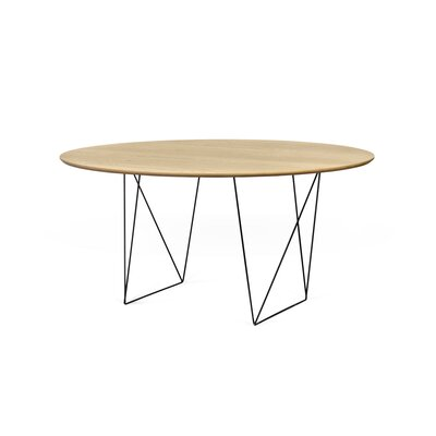 Loganne Circular 29H x 59W x 59L Conference Table Finish: Oak/Black Steel