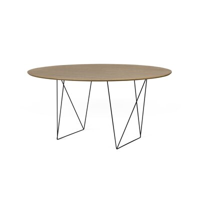 Loganne 4.9 Circular Conference Table Finish: Walnut/Black Steel