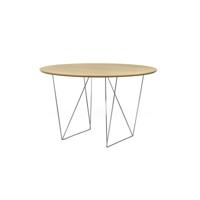 Loganne Circular 29H x 47W x 47L Conference Table Finish: Oak/Chrome