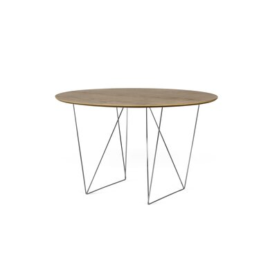 Loganne 3.9 Circular Conference Table Finish: Walnut/Chrome