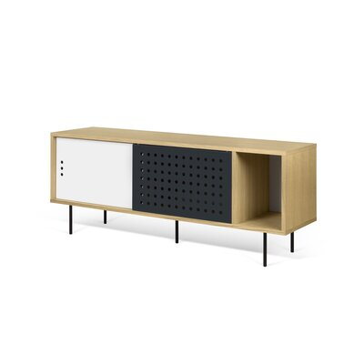 Garry LED Stripes Sideboard Color (Base/Top): Beige/Black