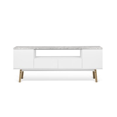 Carrie 73 TV Stand Color : White Marble