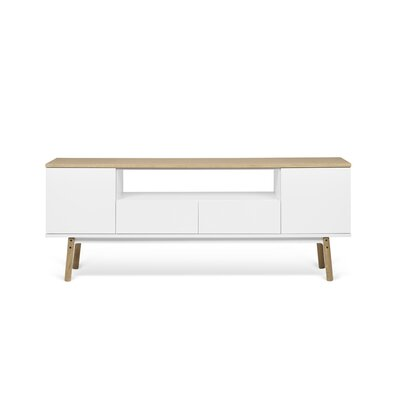 Carrie 73 TV Stand Color : Oak/White