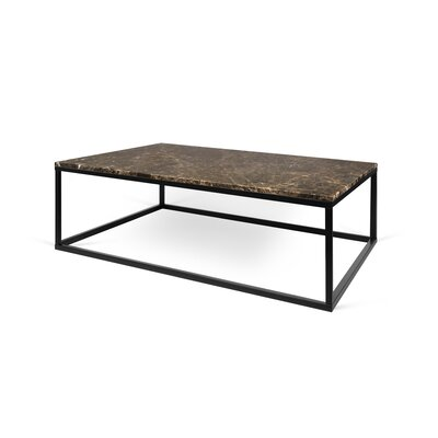 Prairie Marble Coffee Table Base Color: Chrome, Top Color: Emperador