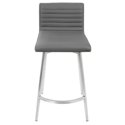 Forest Hills Contemporary Counter 24.5 Swivel Bar Stool Upholstery: Light Gray