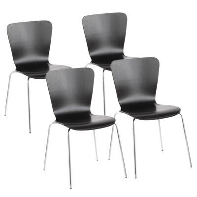Aldora Side Chair Color: Black