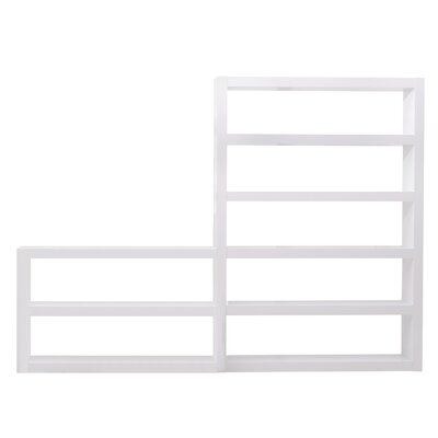 Denso Composition 2010-011 Shelf Etagere 84'' Bookcase Finish: High Gloss White Product Image 3407
