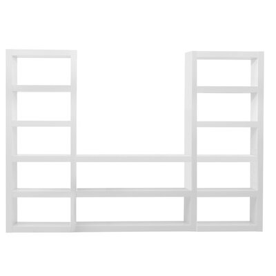 Denso Composition J Shelf Etagere 84'' Bookcase Finish: High Gloss White Product Image 578