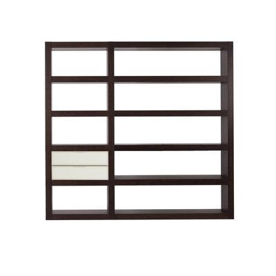 Denso Composition 2010-012 Shelf Etagere 84'' Bookcase Finish: Wenge / White Glass Product Picture 182