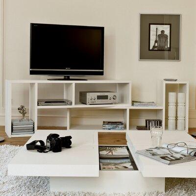 Domino Duo 76 TV Stand Color: Pure White
