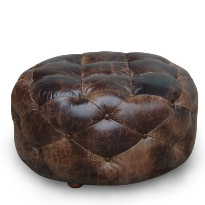Lazzaro Leather Ottoman - Size: Medium at Sears.com