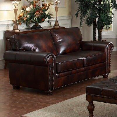 Lazzaro Leather 5050-20-9011B Leather Loveseat