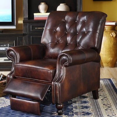 Leather Manual Recliner Upholstery: Toblerone