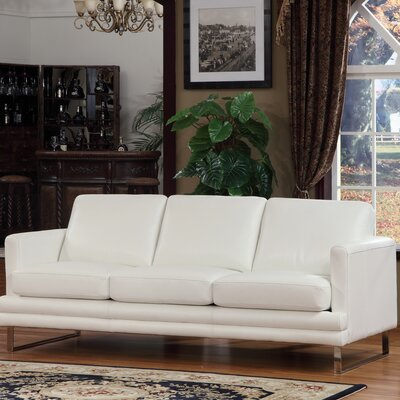 Leather Sofa Upholstery: White