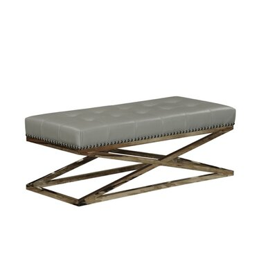 Peyton Coffee Table Base Finish: Stainless Steel, Top Finish: Clay