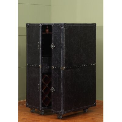 Meomi 33 Bottle Floor Wine Cabinet Color: Black