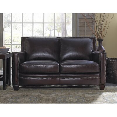 Lazzaro Leather WH-1303-20-9012B Simplicity Leather Loveseat Upholstery
