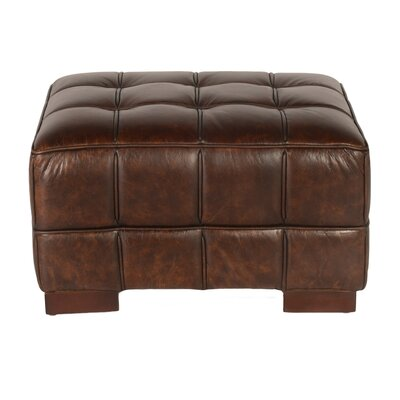 Nautical Leather Ottoman Upholstery: Cocoa Brompton