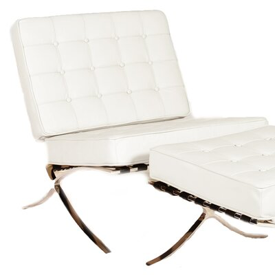 Savoye Lounge Chair Upholstery: White