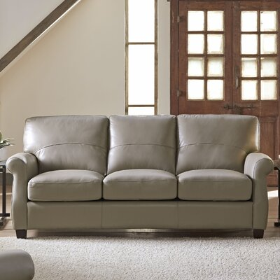 Carlisle Leather Sofa Upholstery: Adobe