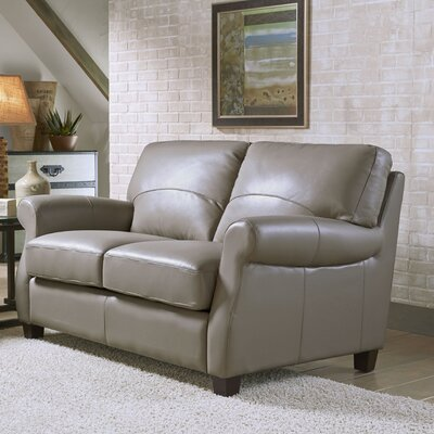 Carlisle Leather Loveseat Upholstery: Adobe