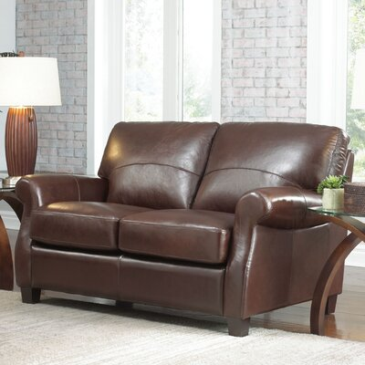 Carlisle Leather Loveseat Upholstery: Coffee Bean