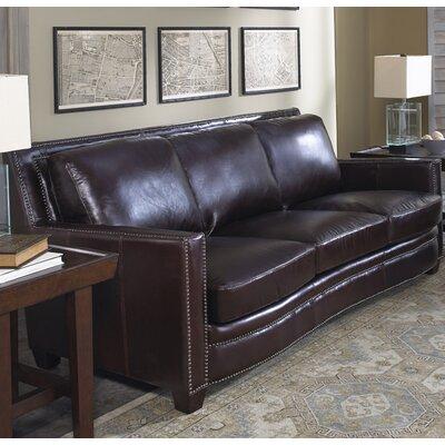 Euston Leather Sofa Upholstery: Cranberry