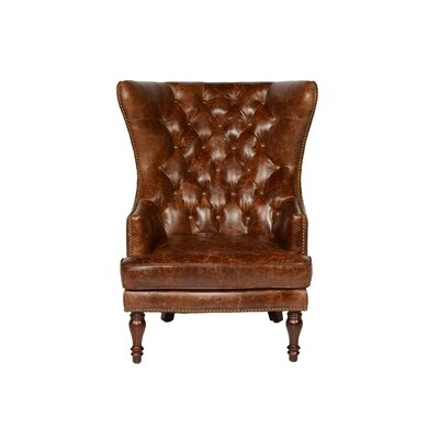 Sedgefield Wing Back Tufted Wingback Chair Upholstery: Coco Brompton