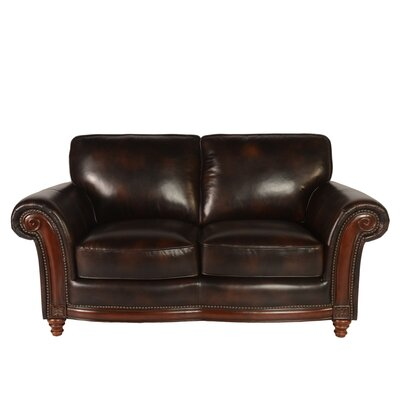 Century Leather Loveseat