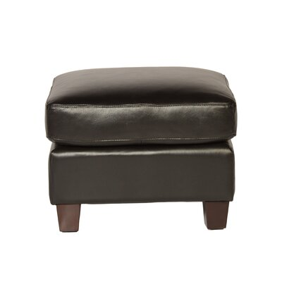 Carlisle Leather Ottoman Upholstery: Coffee Bean