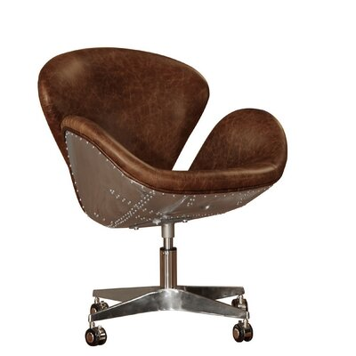 Stylish Bomber Leather Desk Chair Product Photo