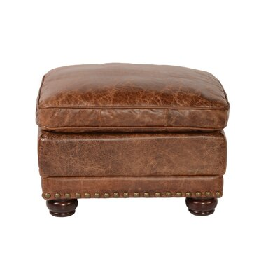 Hardwick Leather Ottoman Color: Cocoa