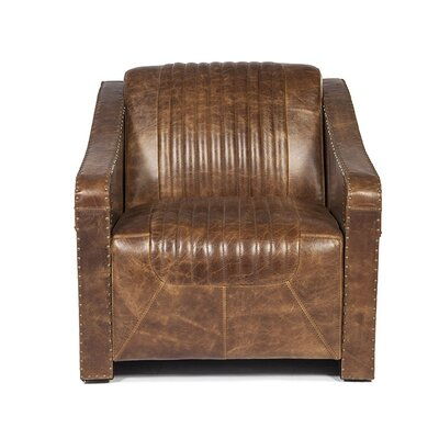 Kryptonite Leather Club Chair