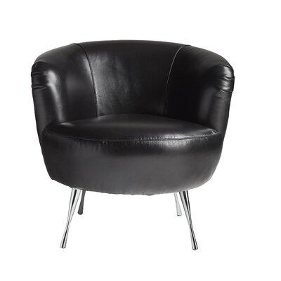 Modena Leather Barrel Chair Finish: Patton Black