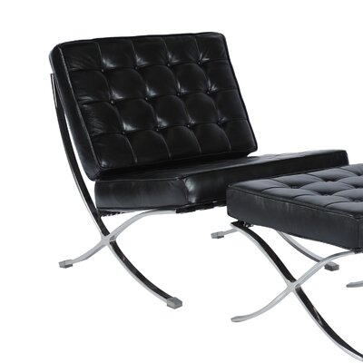 Savoye Lounge Chair Upholstery: Black